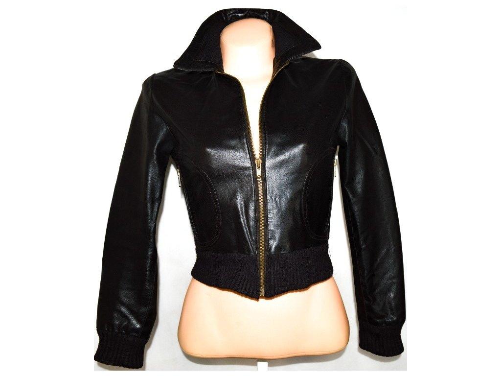 KOŽENÁ dámská hnědá bunda na zip OUTER EDGE L