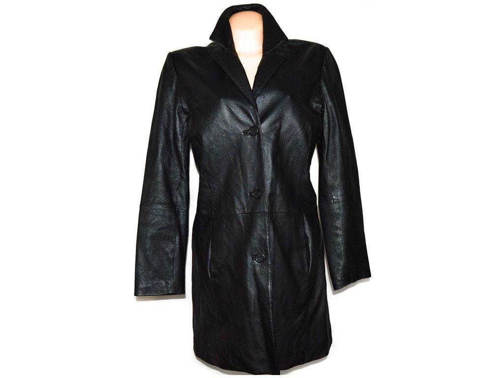 KOŽENÝ dámský černý měkký kabát XLxl 2