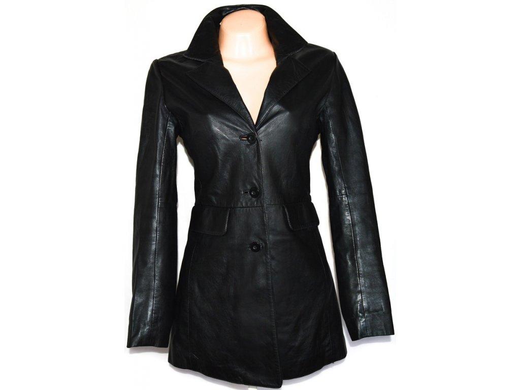 KOŽENÝ dámský černý měkký kabát BAY