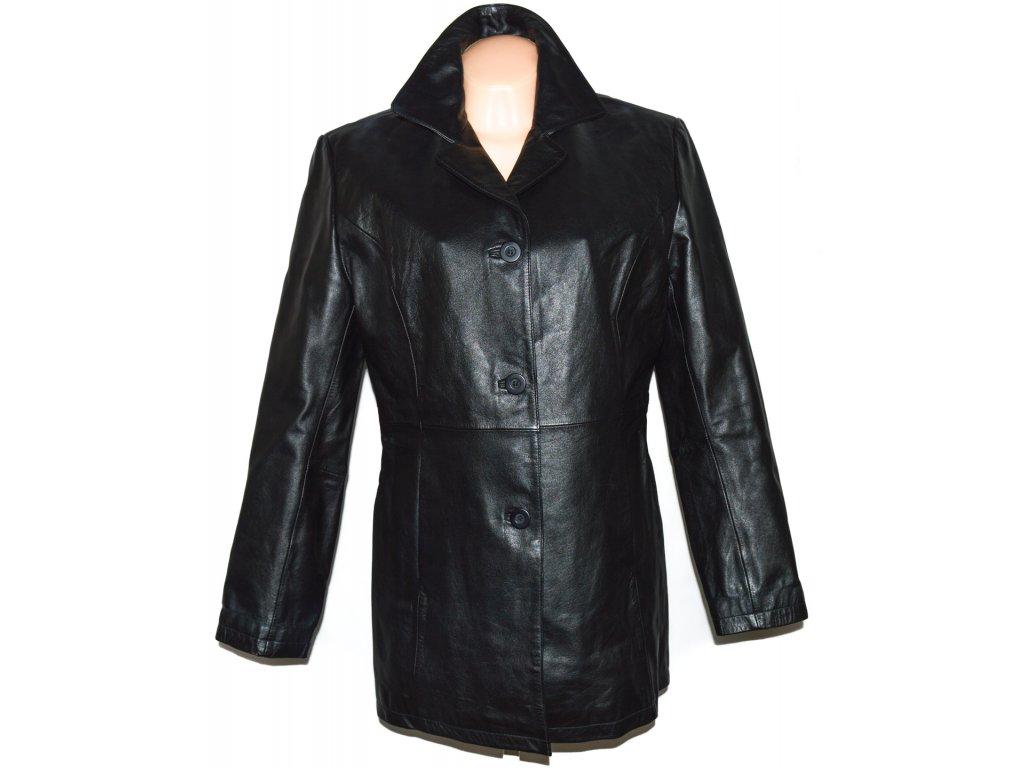 KOŽENÝ dámský měkký černý kabát SENZA MAX