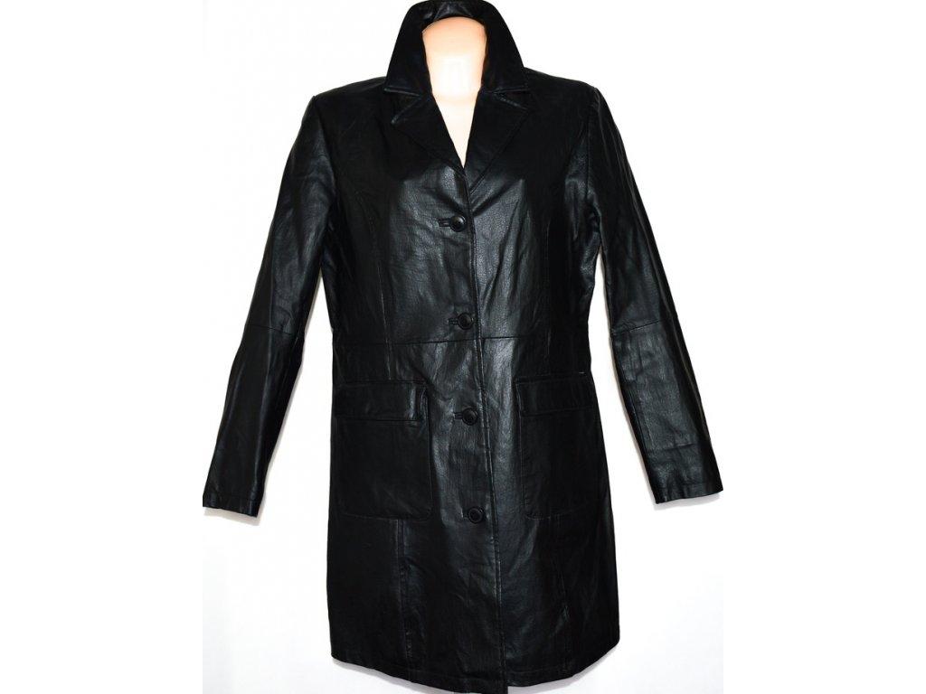 KOŽENÝ dámský černý kabát vel. 44