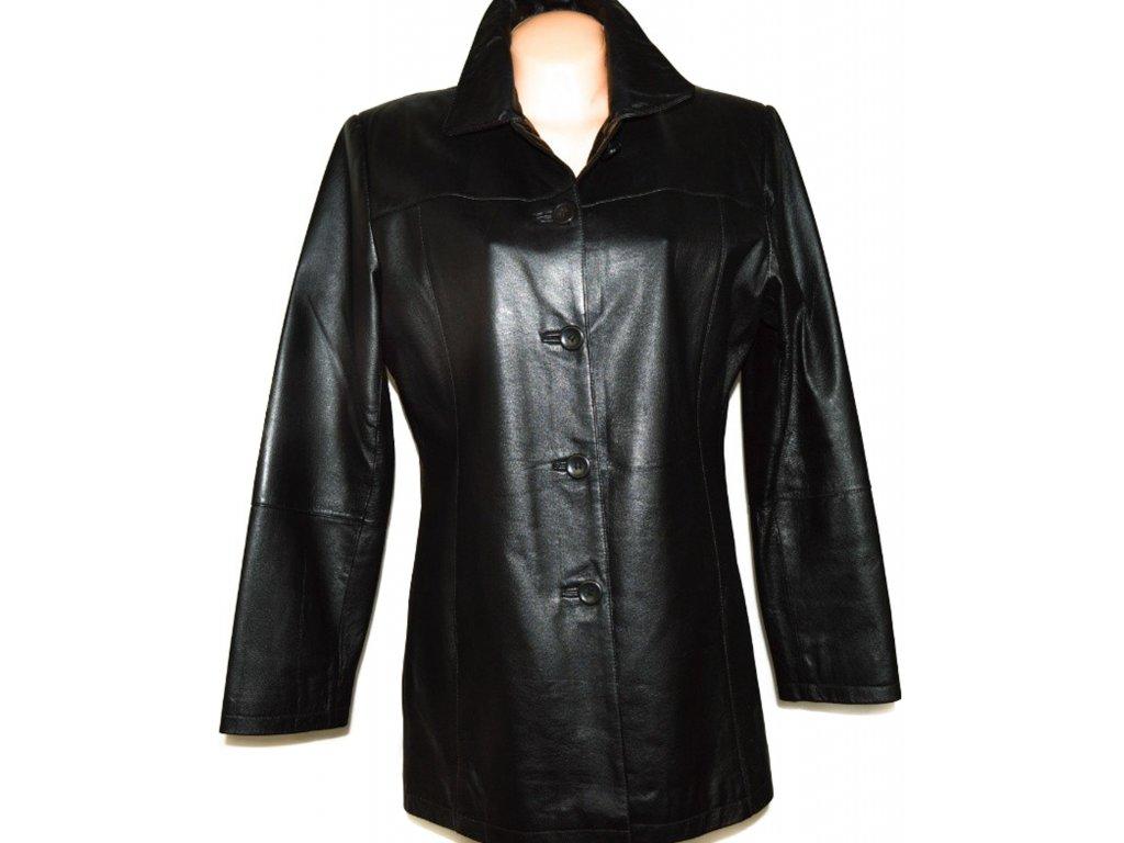 KOŽENÝ dámský černý kabát Thomas & Daniels