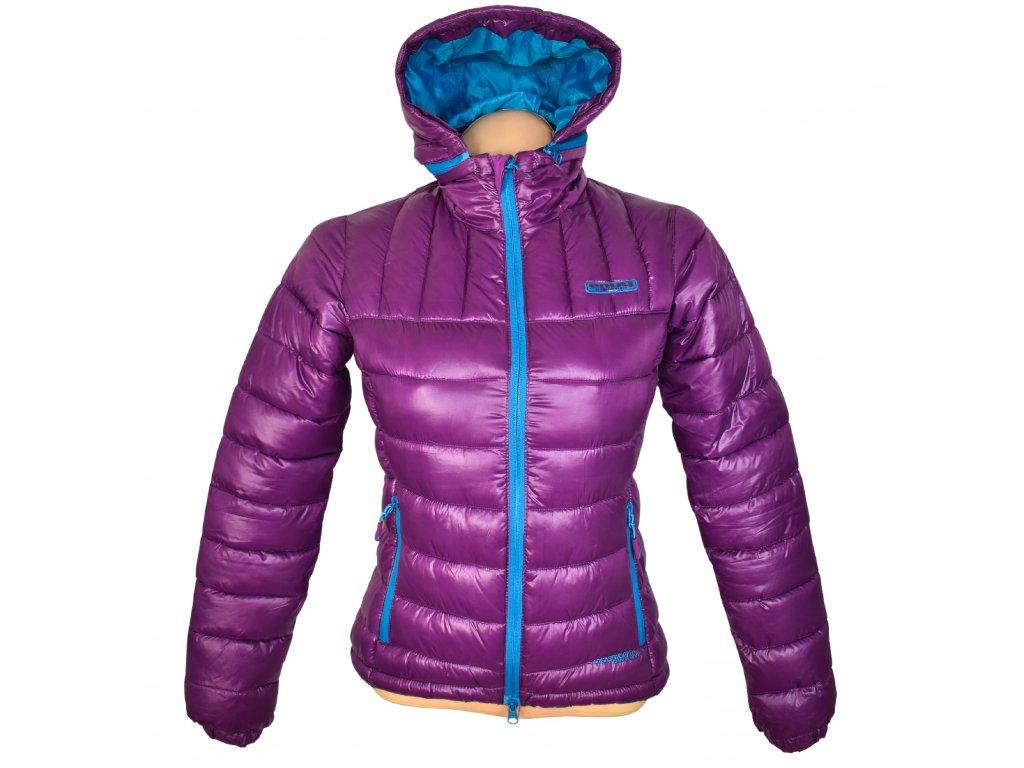 Dámská prošívaná fialová bunda s kapucí ENVY 34