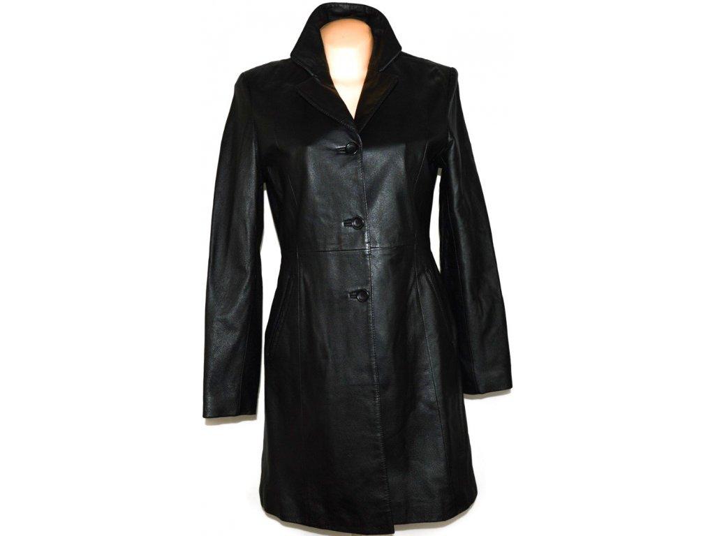KOŽENÝ dámský černý měkký kabát vel. 38