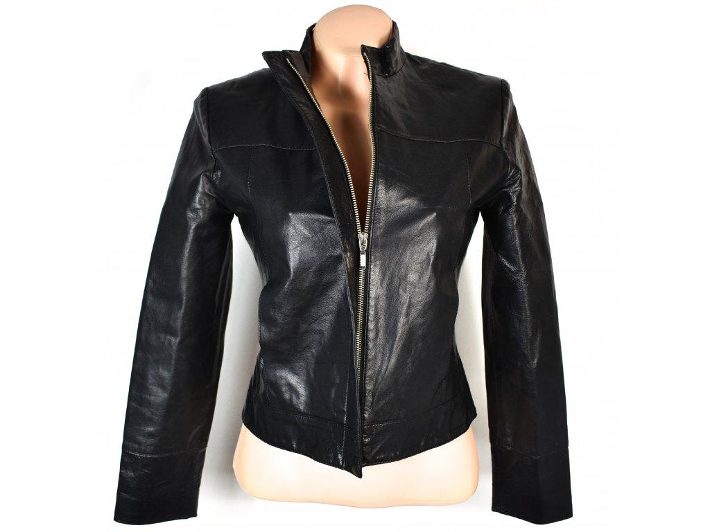 KOŽENÁ dámská černá měkká bunda RIVER ISLAND S 3