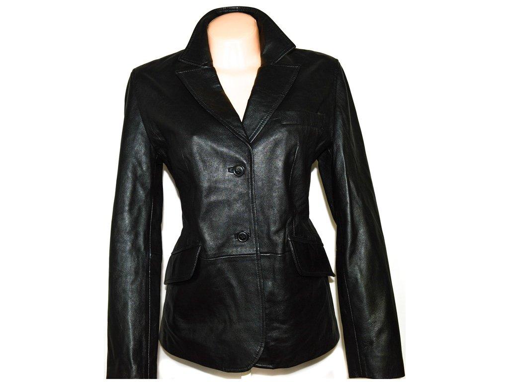 KOŽENÉ dámské černé měkké sako AMARANTO L 2