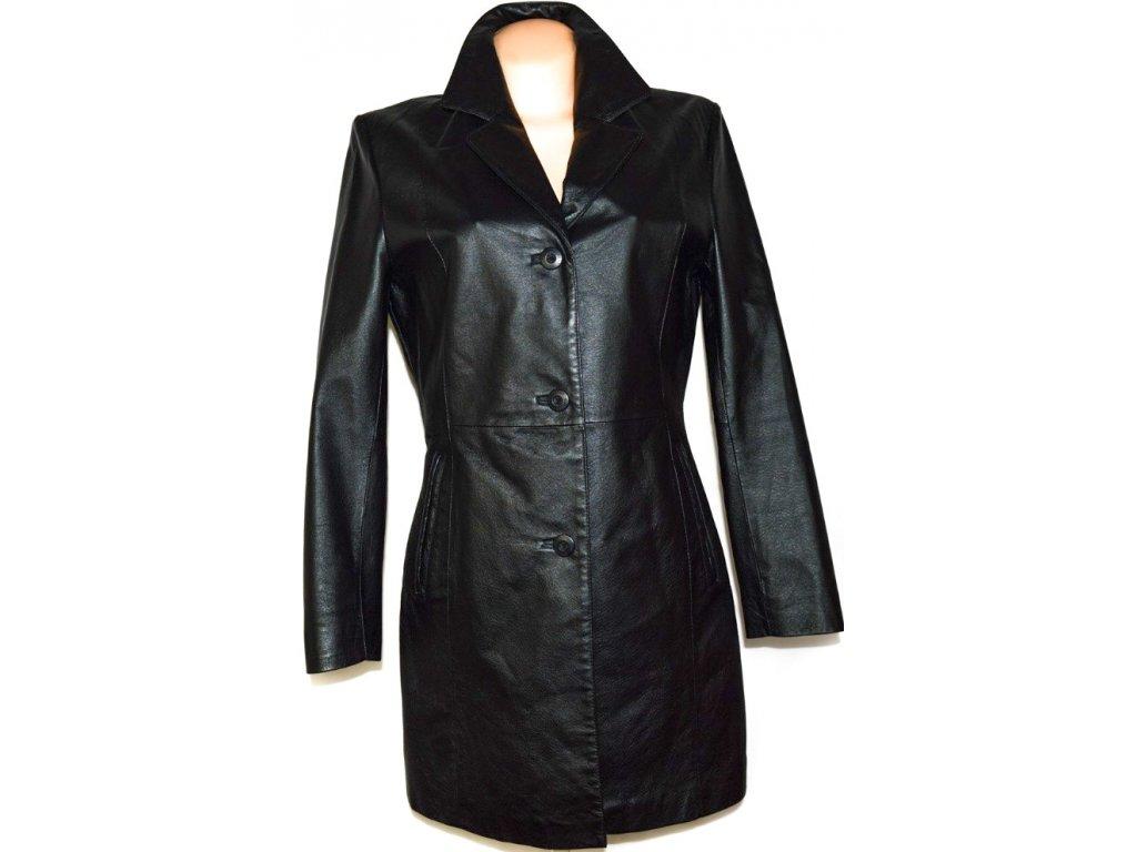 KOŽENÝ dámský černý kabát DIFFERENT vel. L