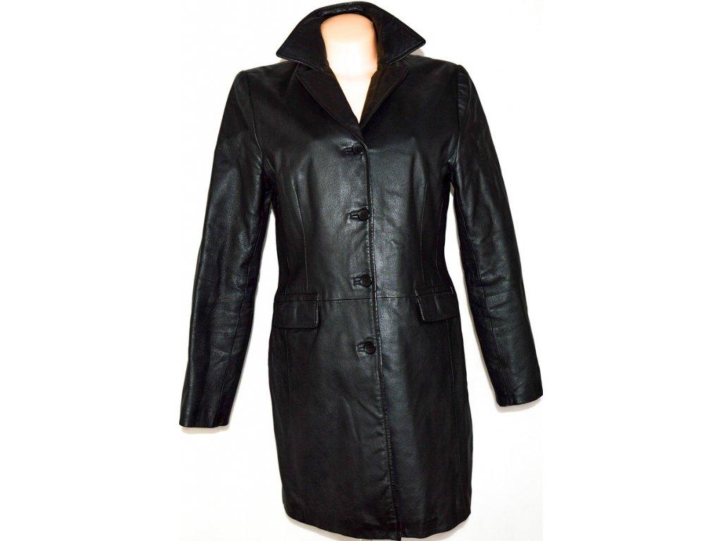 KOŽENÝ dámský černý kabát CLOCKHOUSE UK 14/ L