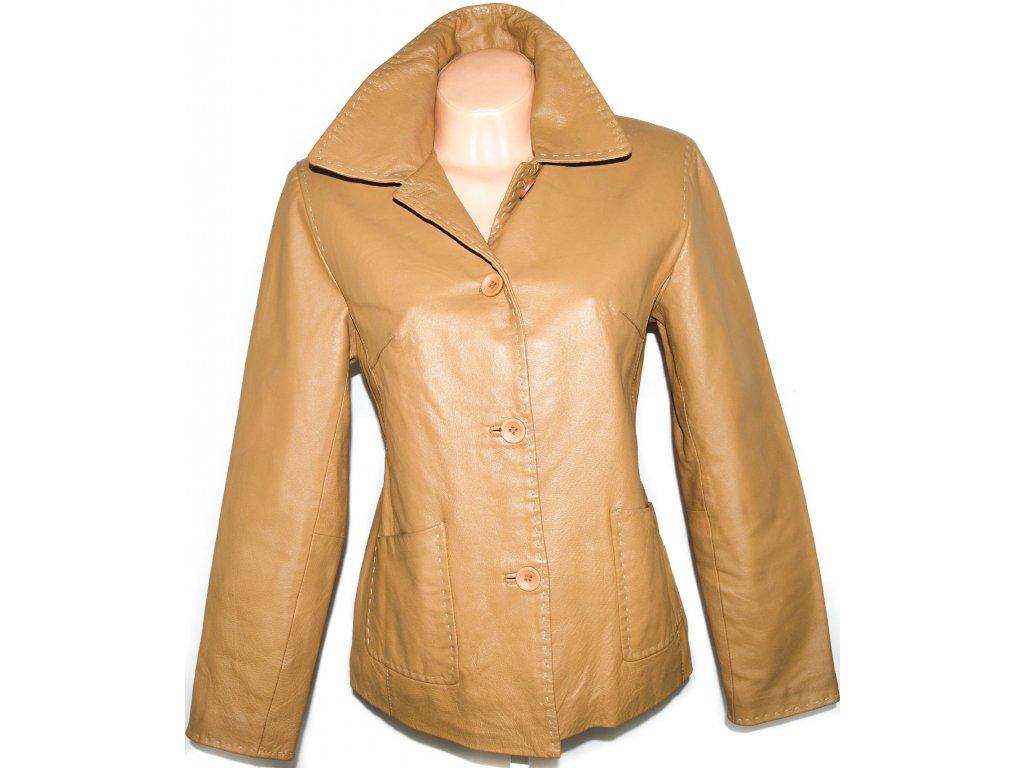 KOŽENÁ dámská hnědá bunda L