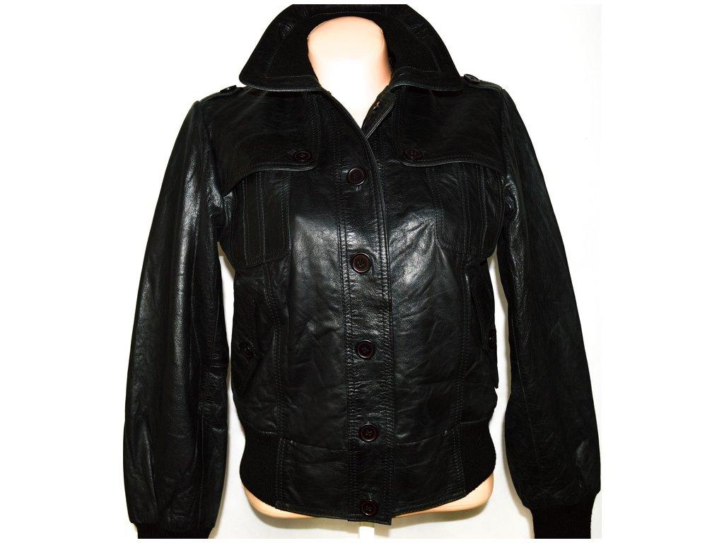 KOŽENÁ dámská černá bunda HIS JEANS L
