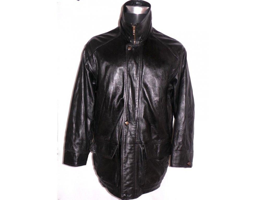 KOŽENÁ pánská černá měkká bunda VALI vel. L
