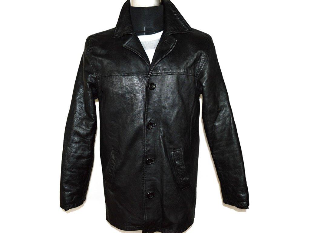 KOŽENÁ pánská černá měkká bunda vel. M