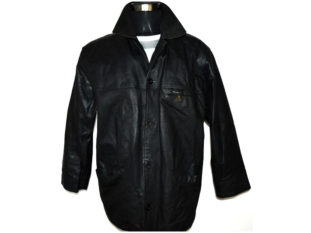 KOŽENÁ pánská černá bunda MATINEE XL