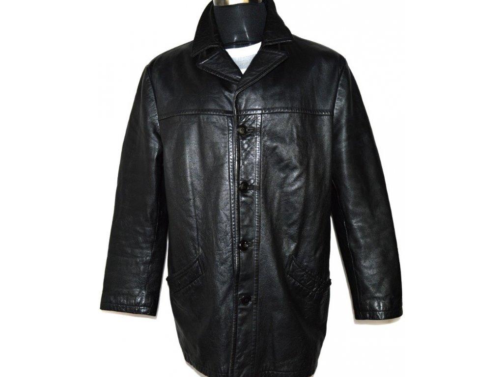 KOŽENÁ pánská černá měkká bunda ABRAMS 54/ XL