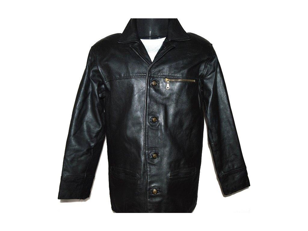 KOŽENÁ pánská černá zateplená bunda vel. M