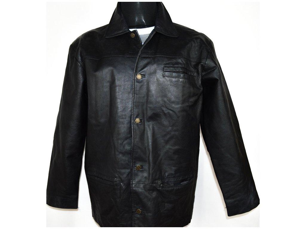 KOŽENÁ pánská černá bunda OUTER EDGE vel. L