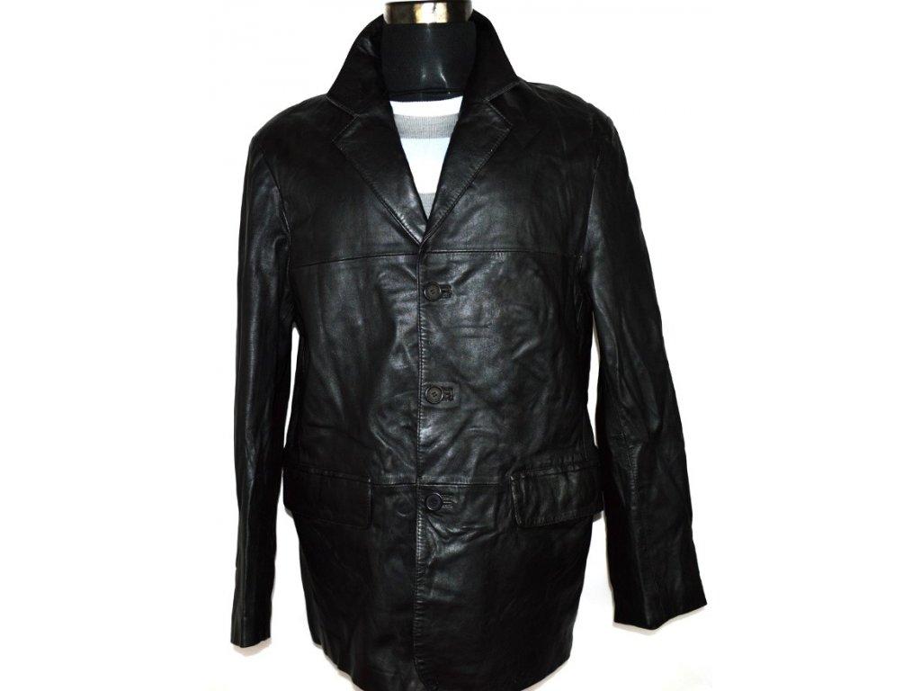 KOŽENÉ pánské černé měkká sako ARMA vel. L