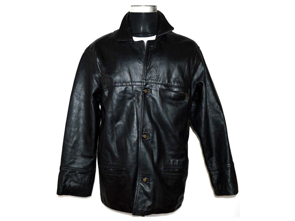 KOŽENÁ pánská černá bunda VITAL vel. L/XL
