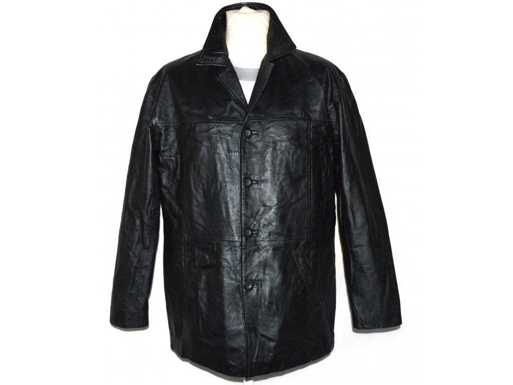 KOŽENÁ pánská černá bunda DETAIL
