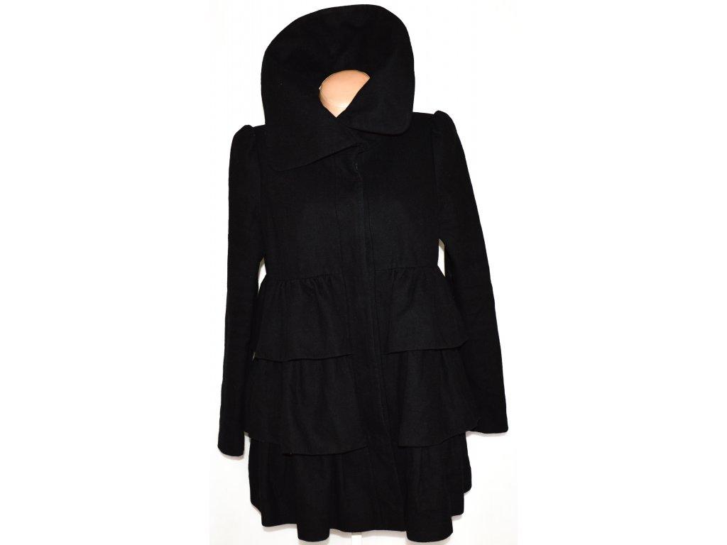 Vlněný dámský černý kabát DOROTHY PERKINS 42