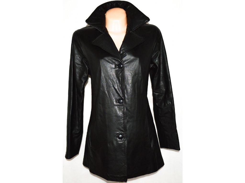 Dámský černý kožený kabát vel. L