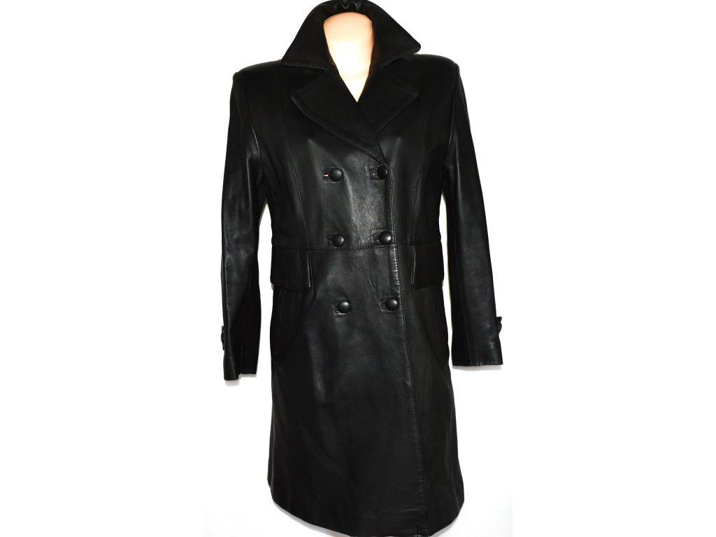 KOŽENÝ dámský měkký černý kabát vel. 42