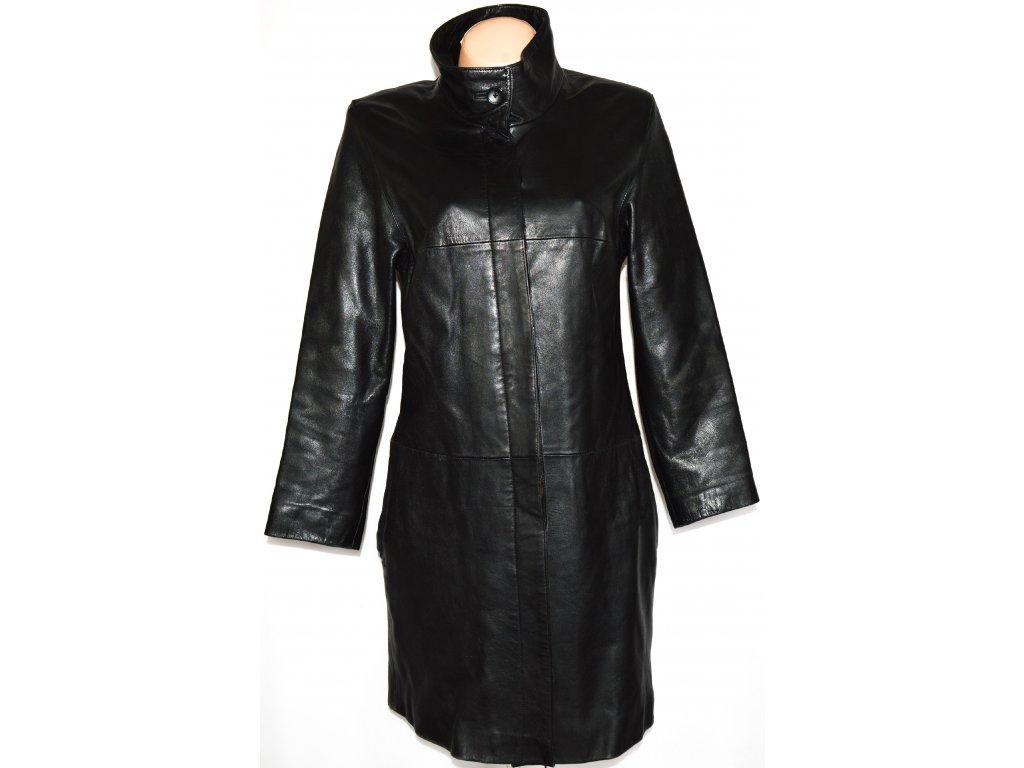 KOŽENÝ dámský měkký černý kabát MILAN LEATHER