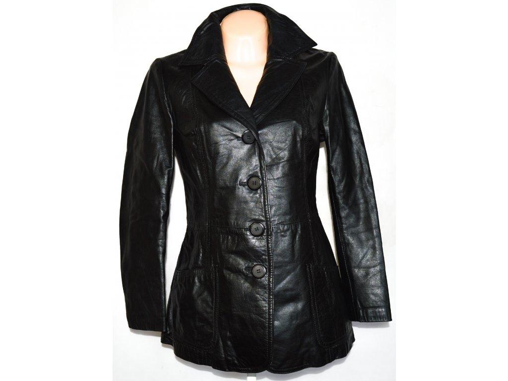 KOŽENÝ dámský černý kabát vel. M
