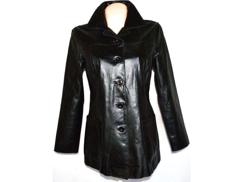 KOŽENÝ dámský měkký černý kabát ZARA vel. M