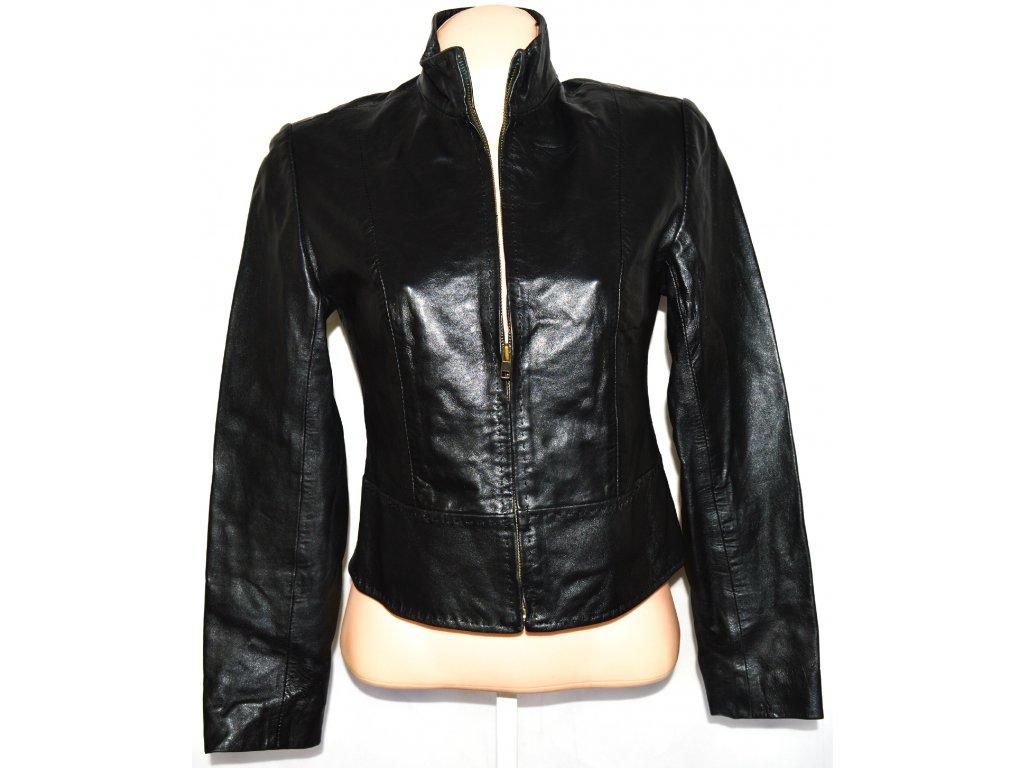 KOŽENÁ dámská měkká černá bunda na zip LAKELAND S