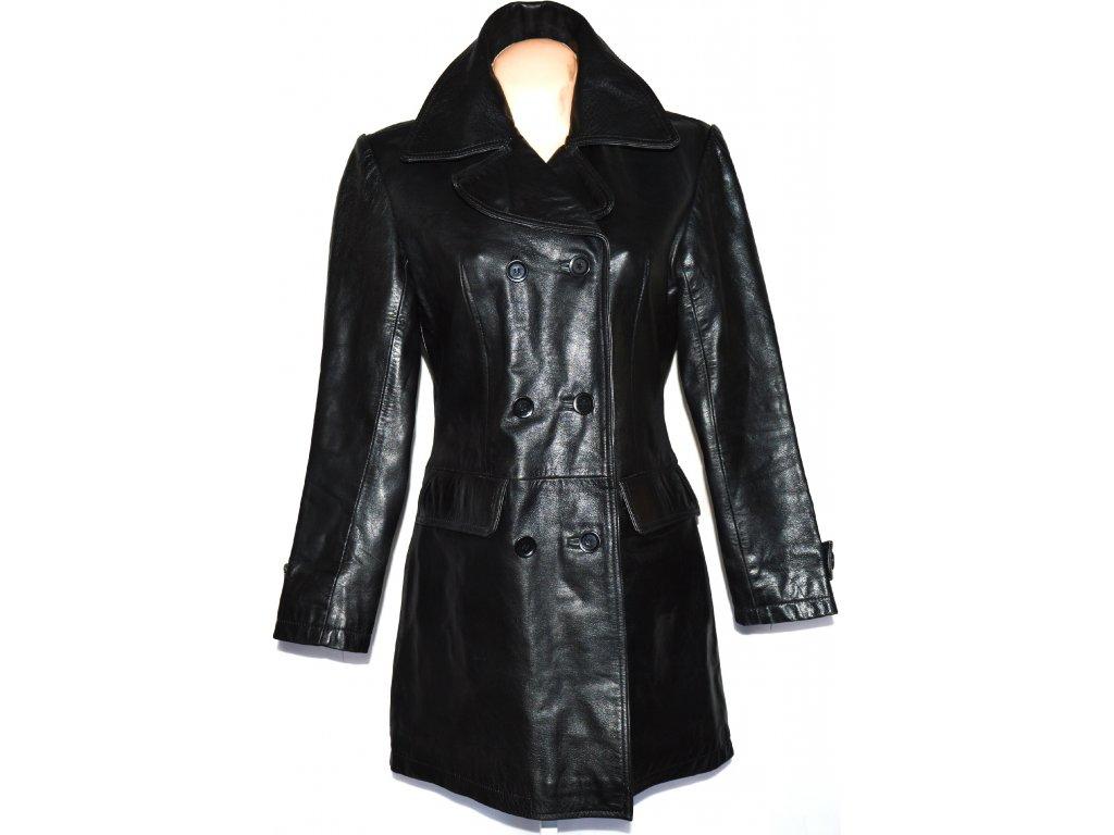 KOŽENÝ dámský černý kabát VALI London vel. L