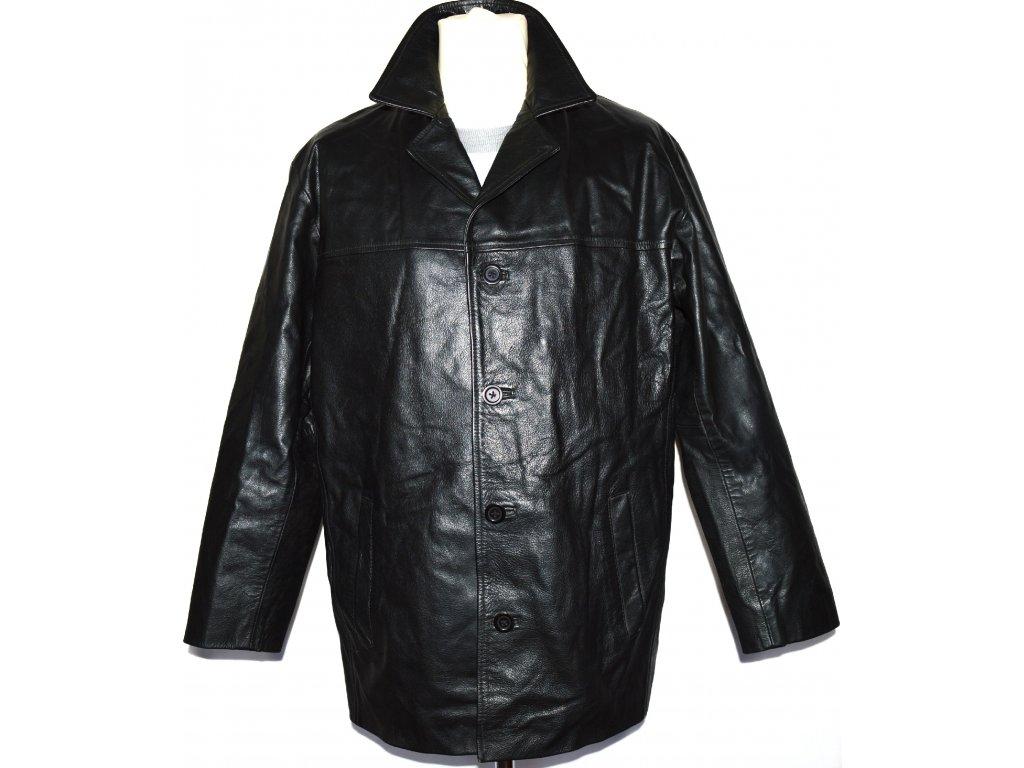 KOŽENÁ pánská černá zateplená bunda SARDAR LONDON vel. M