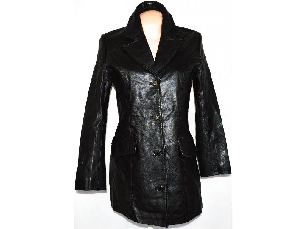 KOŽENÝ dámský měkký černý kabát ETAM vel. L