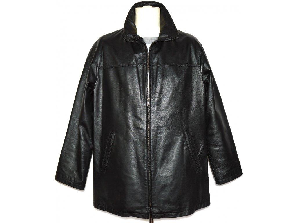 KOŽENÁ pánská černá bunda na zip CERO L, XL
