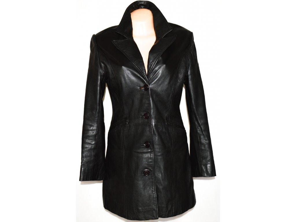 KOŽENÝ dámský měkký černý kabát GAPELLE L
