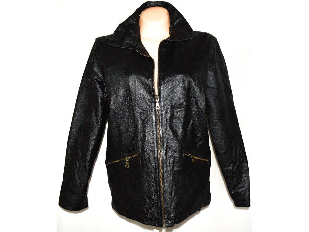 KOŽENÁ dámská černá bunda na zip L.X.D. XL