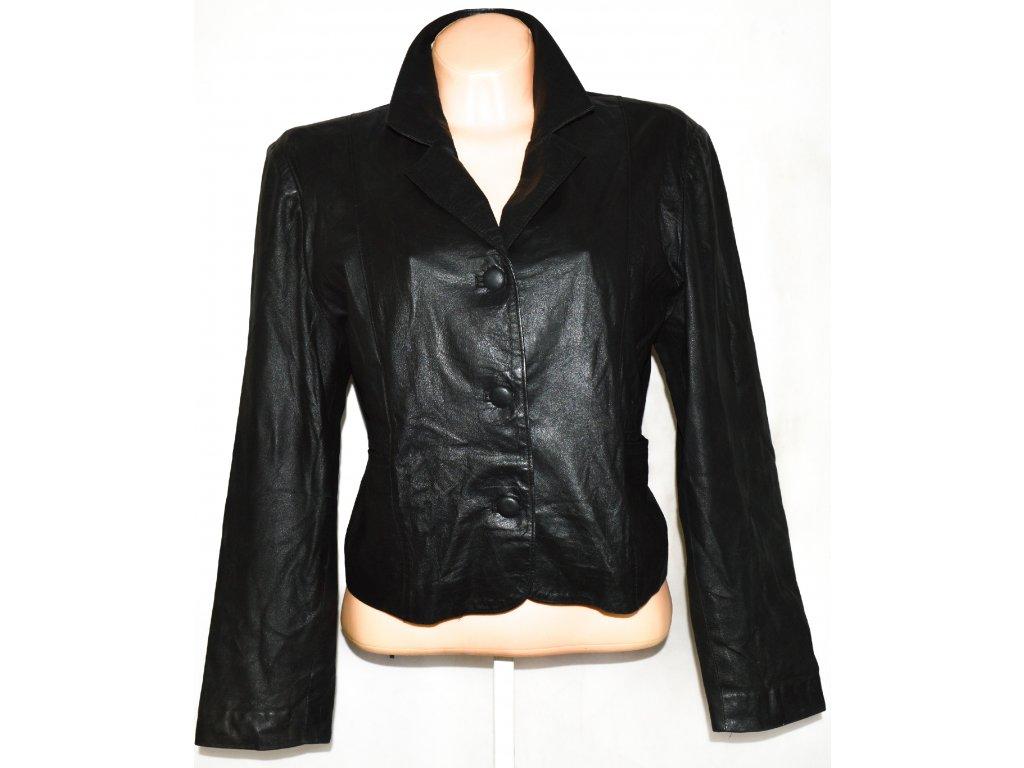 KOŽENÉ dámské měkké černé sako vel. XL