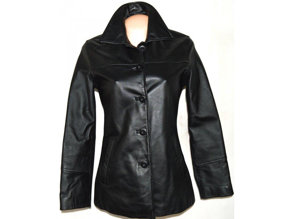 KOŽENÝ dámský černý kabát DIFFERENT S