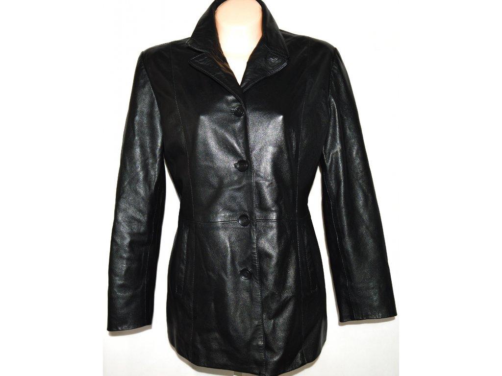 KOŽENÝ dámský černý měkký kabát SENZA MAX