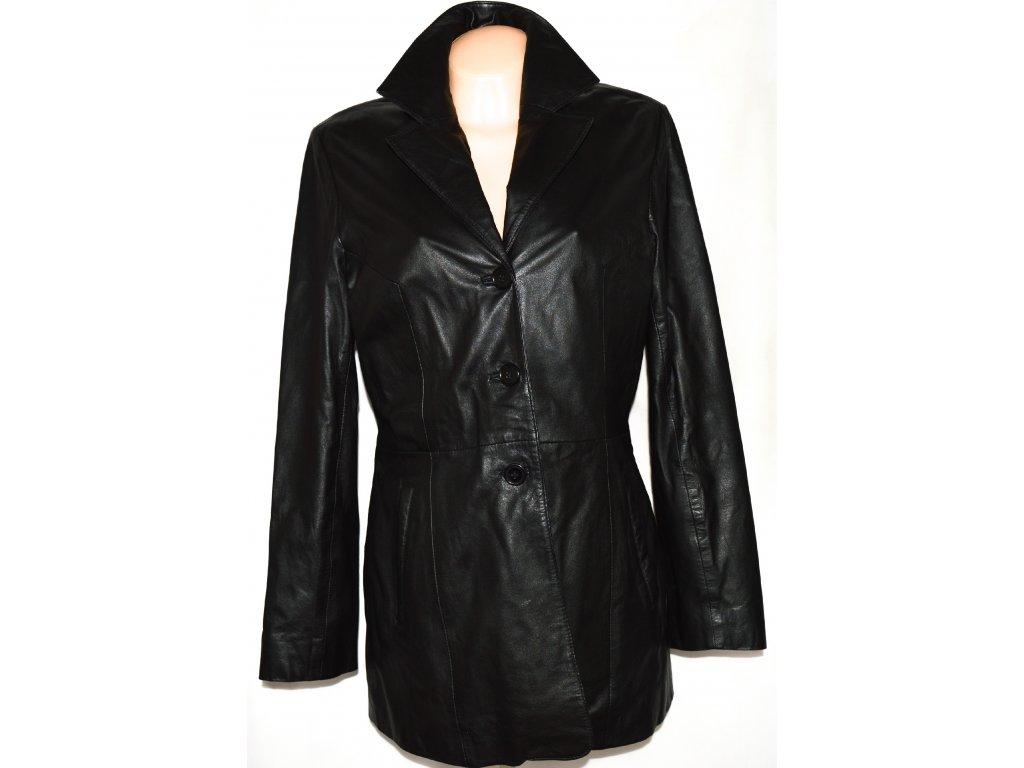 KOŽENÝ dámský měkký černý kabát SENZA MAX 40