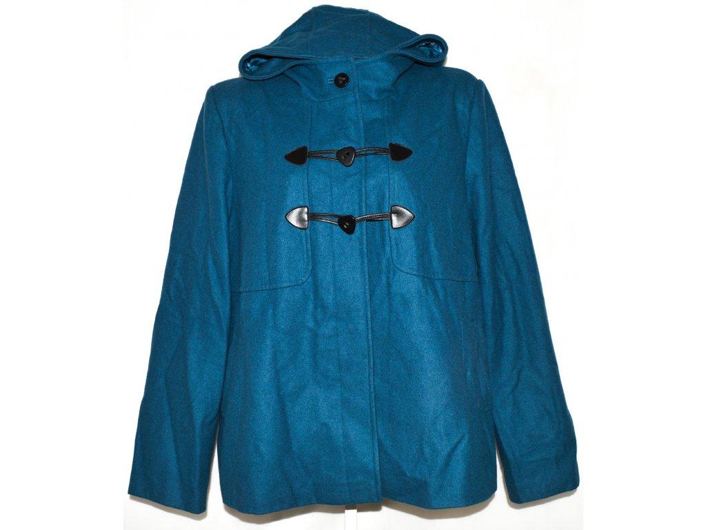 Vlněný dámský modrý kabát s kapucí GEORGE 24 52 - Coat-Master.cz 7e8ae15b97a