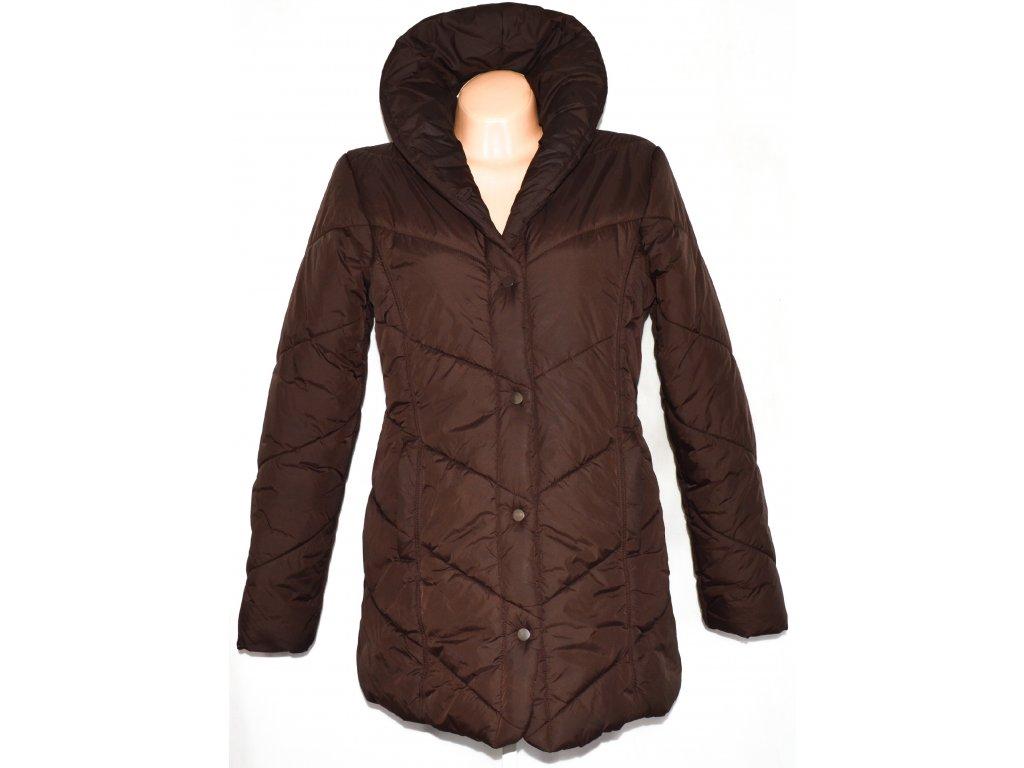 Dámský hnědý šusťákový kabát na cvoky CHEROKEE L