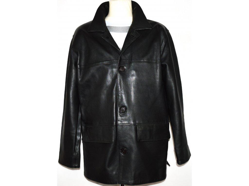 KOŽENÁ pánská měkká černá bunda SAM L