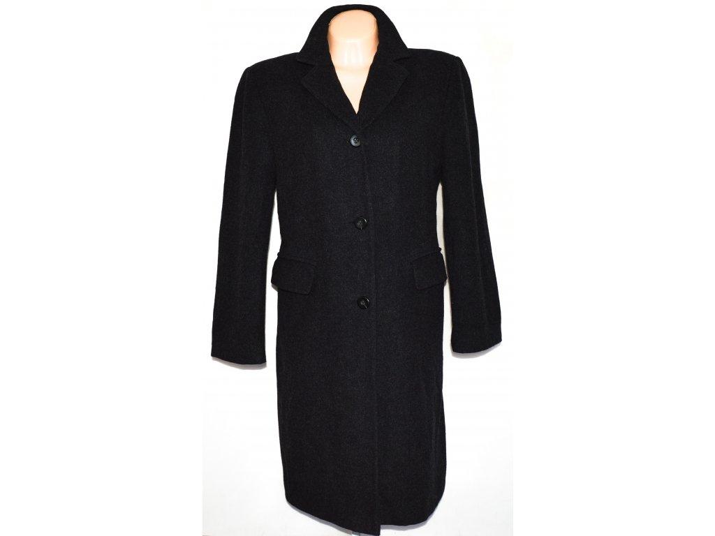 Vlněný dámský šedočerný kabát (vlna, kašmír) 42