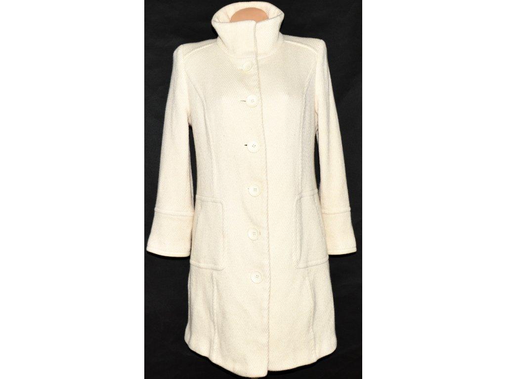 Vlněný dámský smetanový kabát INSPIRE L