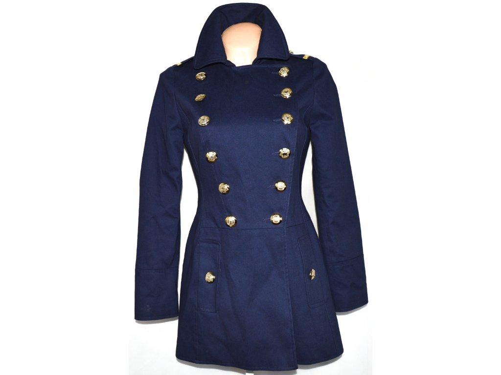 Bavlněný dámský fialovomodrý kabát DEBENHAMS 8 36 - Coat-Master.cz 1f6d061fa0