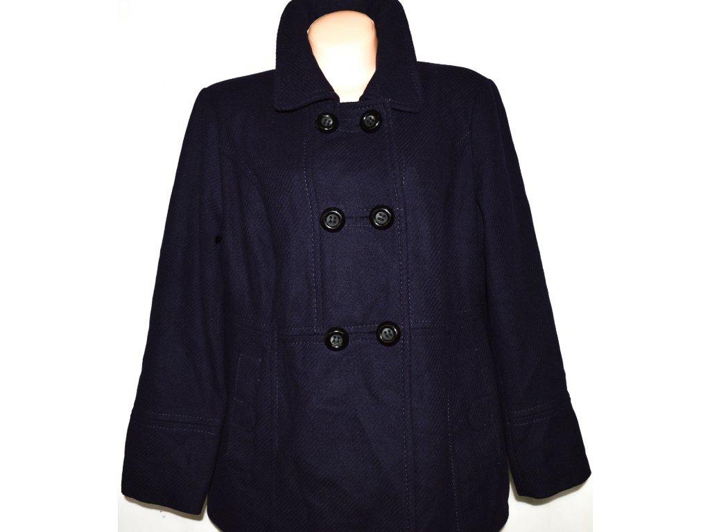 Vlněný (83%) dámský fialový kabát YESSICA - C&A XXL