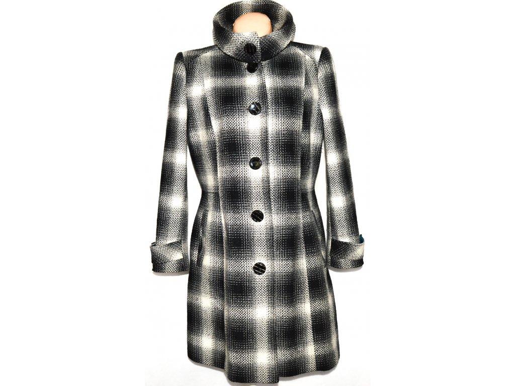 Dámský kostkovaný černobílý kabát DEBENHAMS L