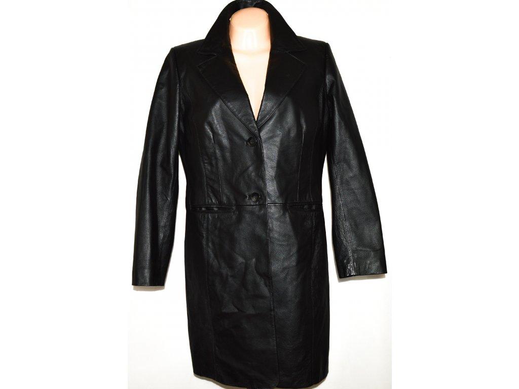 KOŽENÝ dámský měkký černý kabát XL