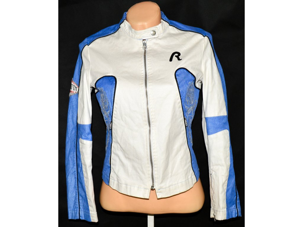 Dámská smetanová bunda na zip REPLAY S
